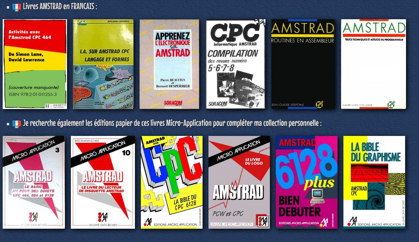 AMSTRAD CPC MEMOIRE ECRITE - Livres et revues sur l'AMSTRAD CPC